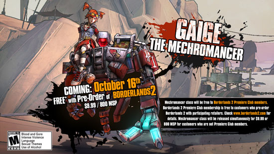 Новый класс в Borderlands 2 - Mechromancer