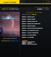 Трейнер The Solus Project