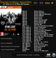 Трейнер Dying Light: The Following - Enhanced Edition (1.11.2) от FLiNG