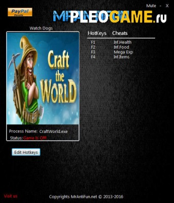 Чит - Трейнер Craft The World (+5) [1.4.013] MrAntiFun